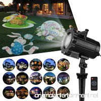 Zenic LED Decorative Projector Lights  6W 16 Switchable Pattern Slides Lighting Waterproof Landscape Projector Light with Remote Control Indoor Outdoor for Valentine's Day Easter Holiday Party - B076P5FVSS