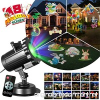Zeonetak All Year Holiday Projector Light 18 Patterns Interchangeable Led Christmas Lights Valentine's Day Birthday Party Independence Day Decoration(10-15ft Projection Distance) - B075ZR3MJY