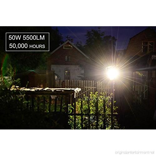 50w Led Flood With Photocell: (2 Pack) Dakason 50W LED Flood Light Dusk-to-Dawn
