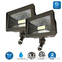 (2 Pack) Dakason 50W LED Flood Light  Dusk-to-Dawn Photocell  180° Adjustable Arm  Replaces 150-200W HPS/MH  IP65 Waterproof Outdoor Security Lighting Fixture  100-277Vac 5000K 6000lm ETL DLC Listed - B07B3R3TYW