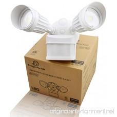 20 Watt LED Motion Sensor Flood Light – White Color - 1 750 Lumen – Super Wide 240 Degree Motion Sensor Angle – 5000K Bright White – 20 Year Life LED - Floodlight wall light with Motion Sensor - B01IC2CF5A