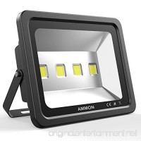 Ammon LED Flood Light 200W Outdoor Waterproof IP65 20000lm Super Bright Flood Lamp Cool White 6000K Spotlight Lamp Daylight for Garden Yard Party Playground(black-200watt) - B073VL6NM4