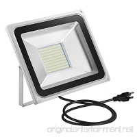 CHUNNUAN LED Flood Light 100W 10000LUMEN,6000-6500K Cold White  Waterproof  IP65  Instant On  CE and ROHS Certified,US 3-Plug Outdoor Security Lights Super Bright Floodlight - B074K4FRTR