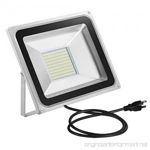 CHUNNUAN LED Flood Light 100W 10000LUMEN,6000-6500K Cold White Waterproof IP65 Instant On CE and ROHS Certified,US 3-Plug Outdoor Security Lights Super Bright Floodlight - B074K4FRTR