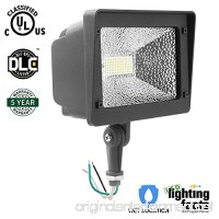 Cinoton LED Floodlight With Knuckle  50W (250W Equivalent)  5500 Lumen  5000K (Crystal White Glow)  Waterproof  IP65  100-277v  Instant On (1 PACK  NOT Photocell) - B06VV1TZHG