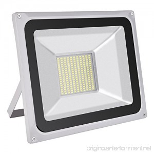 CSHITO 100W LED Flood Lights Outdoor Waterproof IP65 9000LM Daylight White(6000-6600K) Wall Washer Light Super Bright Security Lights for Garden Yard Stadium Factory Warehouse Square Billboard - B077BP34H4