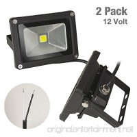 ETOPLIGHTING [2-Pack] Outdoor Indoor 10W 12V LED Flood Light  Daylight White 5500K  Waterproof IP65  Wall Mountable Aluminum Body  APL1501 - B06Y3NX94T