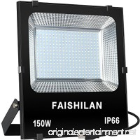 FAISHILAN 150W LED Flood Light Outdoor IP66 Waterproof with US-3 Plug 15000Lm for Garage Garden Yard - B0787S4GRZ