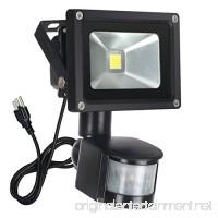 FAISHILAN Motion Sensor Flood Light 10W LED IP65 Waterproof Security Lights 6000K  1500 Lumen  US 3-Plug Outdoor Wall Light - B078RFLVYN