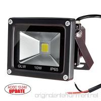GLW 10w 12v Ac or Dc Warm White Led Flood Light Waterproof Outdoor Lights 750lm 80w Halogen Bulb Equivalent Black Case - B008XZAQDU