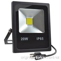 GLW 20W LED Flood Lights 100W Halogen Bulb Equivalent IP65 Waterproof Warm White Outdoor Work Light 1800lm 3000K 110V Floodlight with US 3-plug - B00VFVG6L0