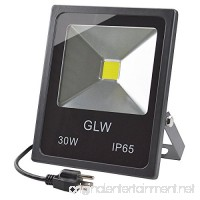 GLW LED 30W Flood Lights IP65 Waterproof  2700lm 6000K 150W Halogen Bulb Equivalent Outdoor Super Bright Daylight White 110V with 3-plug Landscape Light - B06XC9Y5NK