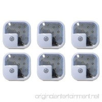 "Goldengulf Wireless Motion Sensor LED Light  Security or Night Light or Cabinet Light (Size: 3"" x 3"")  6-Pack - B00GWLVR9O"