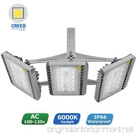 LED Flood Light  STASUN 150W Super Bright LED Security Lights Outdoor with Wider Lighting Area  13500lm  6000K Daylight  Built with Cree LED Chips  Waterproof  Great for Yard Garage Parking Lot - B0718ZKC8Y