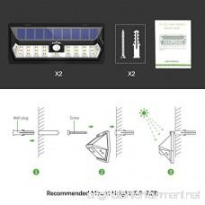 Litom Solar Lights Outdoor with Adjustable Lighting Time 30 LED Solar Motion Sensor Lights Wireless Solar Powered Security Lights Waterproof Wall Lights for Garage Yard Front Door Step(2 Pack) - B074MX1NRK