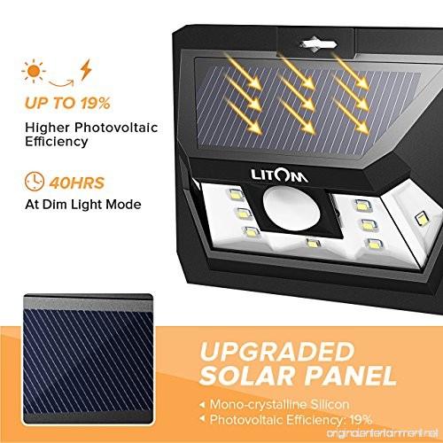Solar Lights At The Range: Litom Super Bright Solar Light Motion Sensor Light Outdoor