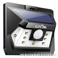 Litom Super Bright Solar Light Motion Sensor Light Outdoor Wall Light Wide Lighting Range with LEDs Both Sides for Door Garden Path Patio-1 Pack - B072LYKFPQ