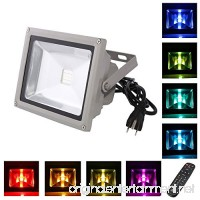 LOFTEK 10W Outdoor Security RGB LED Floodlight  High Powered RGB Color Change(16 Different Color Tones and Four modes)  Spotlight - B00CRTICPC