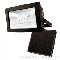 MAXSA Solar-Powered 10 Hour Floodlight. Uplight Signs  Flags  Statuary & Outdoor Spaces. Durable & Weatherproof Dusk-to-Dawn Solar LED Light  Black  in Reshippable package 40330-RS - B01MTWI56L