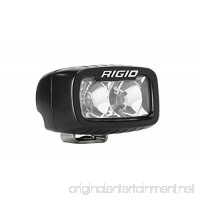 Rigid Industries 902113 SR-M Series Pro Flood Light; Surface Mount; Hybrid; 2 White LEDs; Black Rectangular Housing; Single; - B0767P4Q31