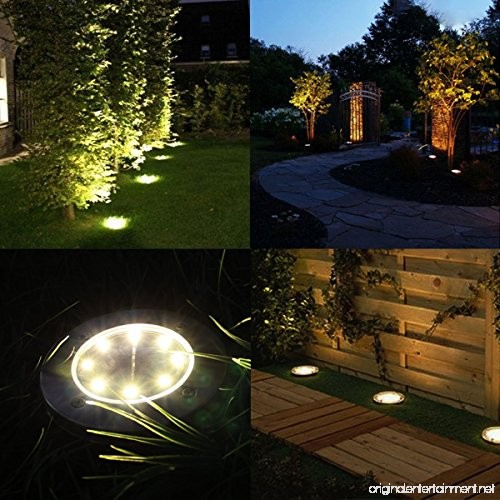 Outdoor Solar Lights In Ground: SIXDEFLY 8 LED Solar Power Buried Light Under Ground Lamp