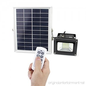 Solar Light Outdoor Remote Control Solar Flood Light for Night Lighting of Patio Garden Yard Lawn Shed Barn and Pool IP65 Waterproof 10W 450 Lumen - B0722KH92Q