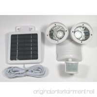 Solar Motion Sensor Security Spotlight 22 LED Dual Flood Light White - B00NN739VY