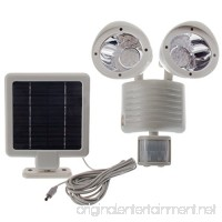 Solar Powered Motion Sensor Lights 22 LED Garage Outdoor Security Flood Spot Light White - B01LCW6PZS