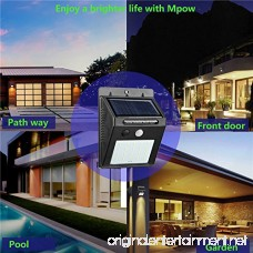 Zeben Solar Lights Outdoor Waterproof Wall Light 20 LED Flood Lighting Motion Sensor Auto On/Off Porch lights for Patio Deck Yard Step Garden(2 Pack) - B075Z3CMY6