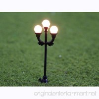 10pcs Model 3-head Scene Garden Lamppost Lamp O Gauge 1:48 Scale Decor Layout - B01DDCHB30