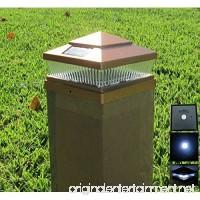 2 Pack Garden Sunlight Plastic Copper 6x6 Outdoor 5 LED 78lumens Solar Light Post Cap Light - B011M4ABZQ