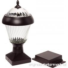 2 Pack GreenLighting Bahama 20 Lumen High End Solar Post Cap Lights for 4x4 Wood Posts (Remington Bronze) - B073ZDT3ZF