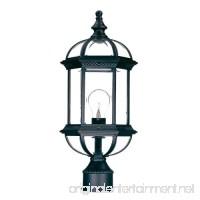 Acclaim 5277BK Dover Collection 1-Light Post Mount Outdoor Light Fixture Matte Black - B003D5U96E
