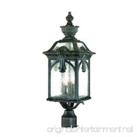 Acclaim 7117BC Belmont Collection 3-Light Outdoor Light Fixture Post Lantern  Black Coral - B003D4MACG