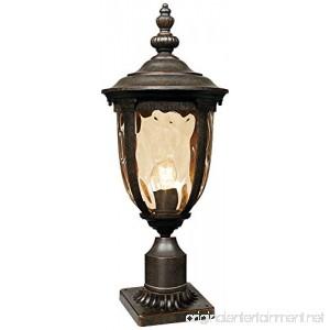 Bellagio 24 1/2H Bronze Post Light with Pier Mount Adapter - B01M7M7DAN