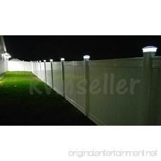 Black/Brown/Silver/White 4 x 4 Solar Post Deck Cap Fence Light PVC Vinyl (White - 12 Pack) - B07DL1LBCH