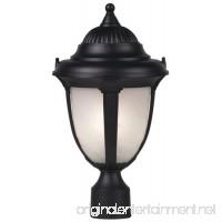 """Casa Sorrento 16 3/4"""" High Black Post Mount Light - B0000DKM7K"""