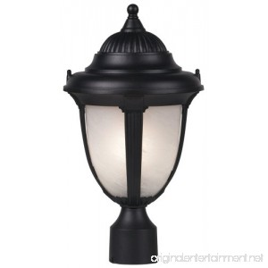 Casa Sorrento 16 3/4 High Black Post Mount Light - B0000DKM7K
