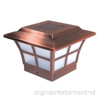 "Classy Caps SL079C Plated Prestige Solar Post Cap  4"" x 4""  Copper - B002BRMFAI"