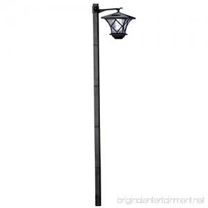 Collections Etc Solar 5 Ft Lantern Lamp Post Stake Light Black - B00KBI82FG
