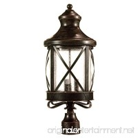 eTopLighting Lux Collection Exterior Outdoor Lantern Light with Rain Glass  Post APL1075 - B015X1OIAI