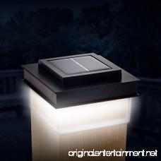 GreenLighting Translucent 12 Lumen LED Solar Powered Post Cap Light for 4x4 Wood Posts (4 Pack Black) - B07BQSNMY5