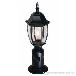 Heath/Zenith SL-4392-BK 360-Degree Motion-Activated Decorative Post Light Black - B005GDEW4G