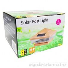 iGlow 4 Pack Copper Outdoor 4 x 4 Solar 5-LED Post Deck Cap Square Fence Light Landscape Lamp PVC Vinyl Wood Bronze - B01M1C9X45