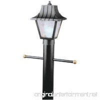One Hi-Impact Polycarbonate Post Top Lanterns in Black with Optional Lantern Posts - B000LNV37A