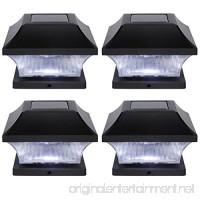 Solar LED Garden Pathway Post Cap Lights - Set of 4 by Trademark Innovations - B0759SPMZV
