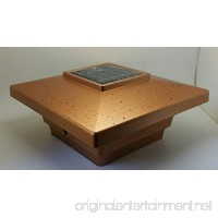Solar Post Cap Light LED Low Profile Copper Color 4x4 inch for Vinyl & Wood Bright 4x SMD LED Lighting - B072TNG1TX