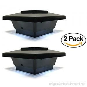Solar Post Cap Low Profile 4 SMD LED Black 4X4 Vinyl & Wood ( 2 Pack ) PL251B - B076V3V82L