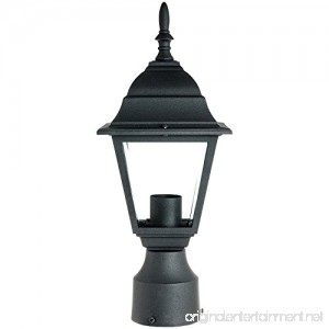 Sunlite ODI1150 15-Inch Decorative Light Post Outdoor Fixture Black Finish with Clear Glass - B004WSOWS2