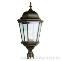 Trans Globe Lighting 51001 RT Outdoor Classical 26.75 Postmount Lantern Rust - B000PH0EUO